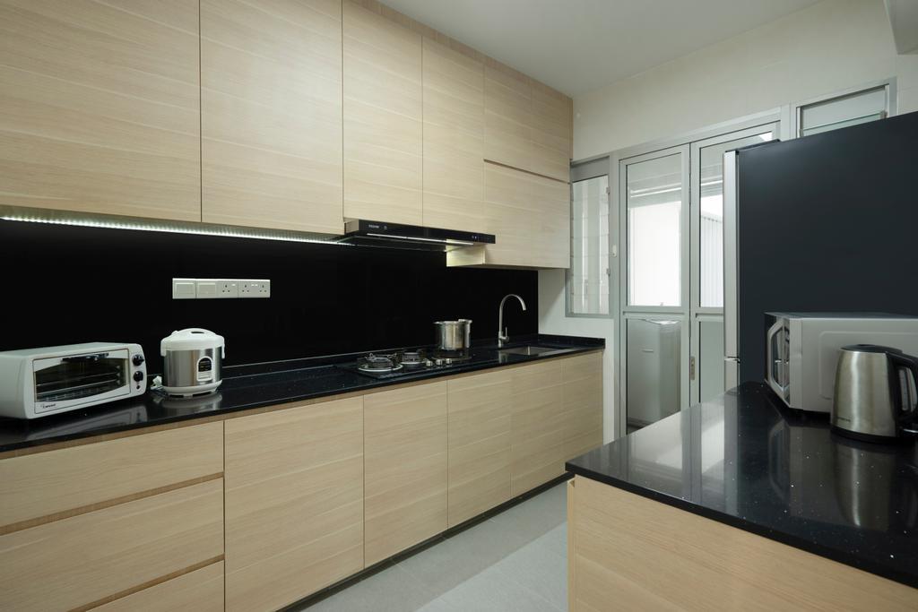 Contemporary, HDB, Kitchen, Canberra Street, Interior Designer, Great Oasis Interior Design, Modern