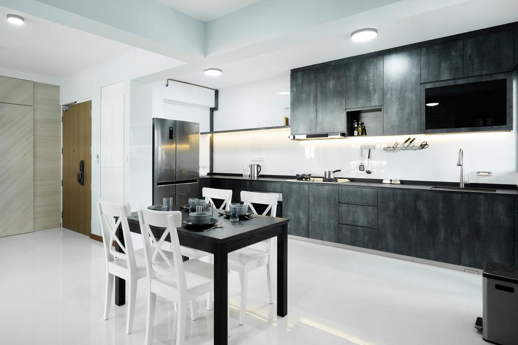 Contemporary, HDB, Kitchen, Tampines Street 61, Interior Designer, Great Oasis Interior Design