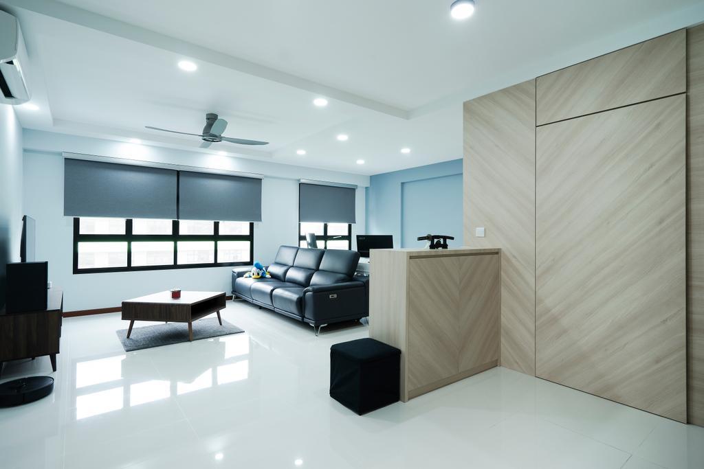 Contemporary, HDB, Living Room, Tampines Street 61, Interior Designer, Great Oasis Interior Design