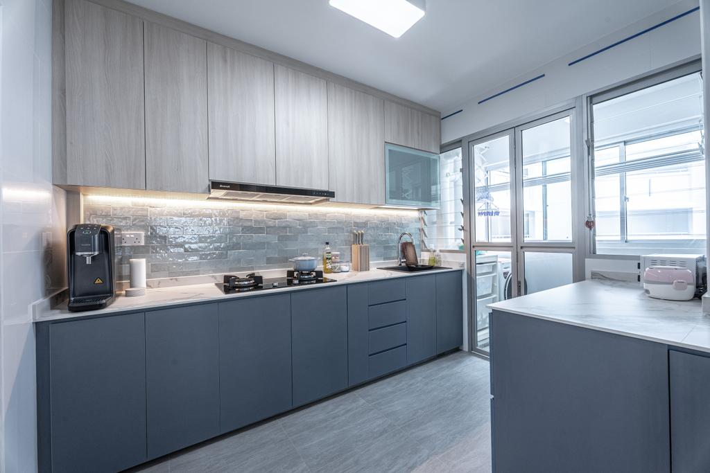 Contemporary, HDB, Kitchen, Anchorvale Lane, Interior Designer, Luova Project Services