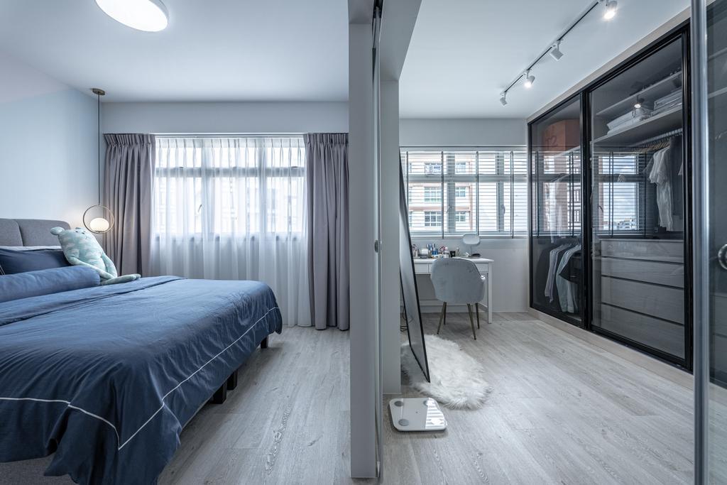 Contemporary, HDB, Bedroom, Anchorvale Lane, Interior Designer, Luova Project Services