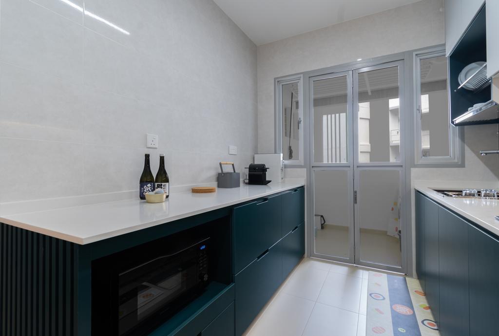 Contemporary, HDB, Kitchen, Tampines North Drive 1, Interior Designer, Yang's Inspiration Design