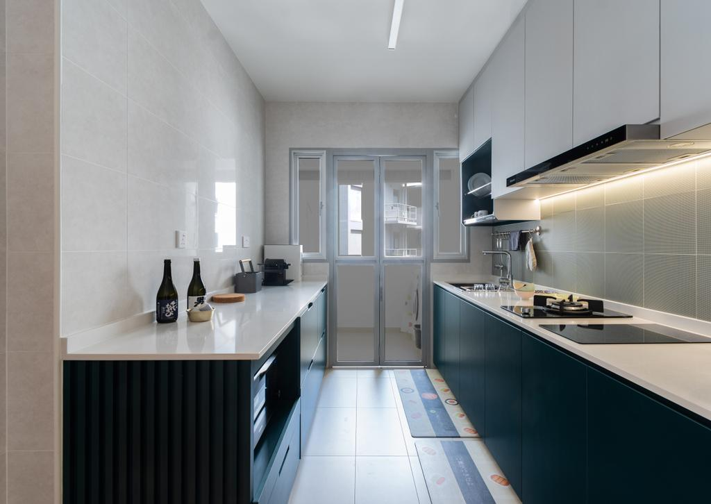Contemporary, HDB, Kitchen, Tampines North Drive 1, Interior Designer, Yang's Inspiration Design