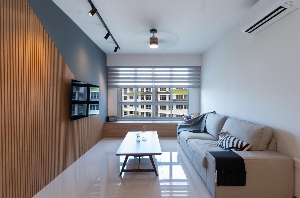 Contemporary, HDB, Living Room, Tampines North Drive 1, Interior Designer, Yang's Inspiration Design