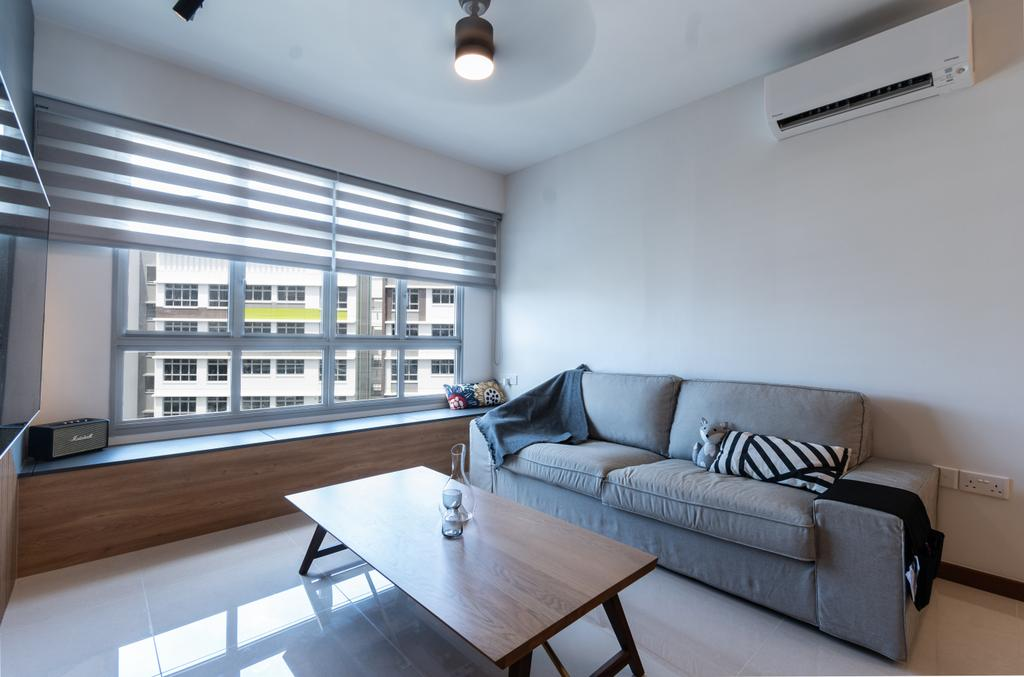 Contemporary, HDB, Living Room, Tampines North Drive 1, Interior Designer, Yang's Inspiration Design