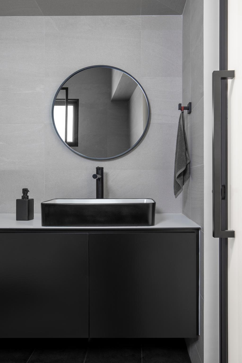 Contemporary, HDB, Bathroom, Rivervale Drive, Interior Designer, Ascend Design