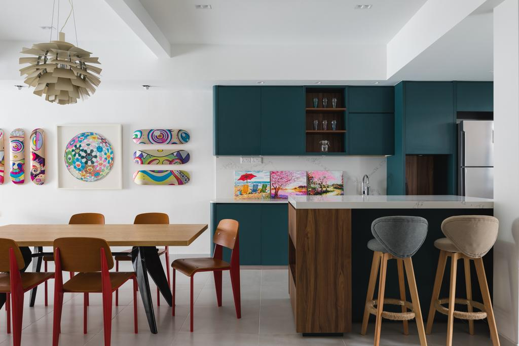 Contemporary, Landed, Kitchen, Lorong Sarina, Interior Designer, LS2 Design & Construction