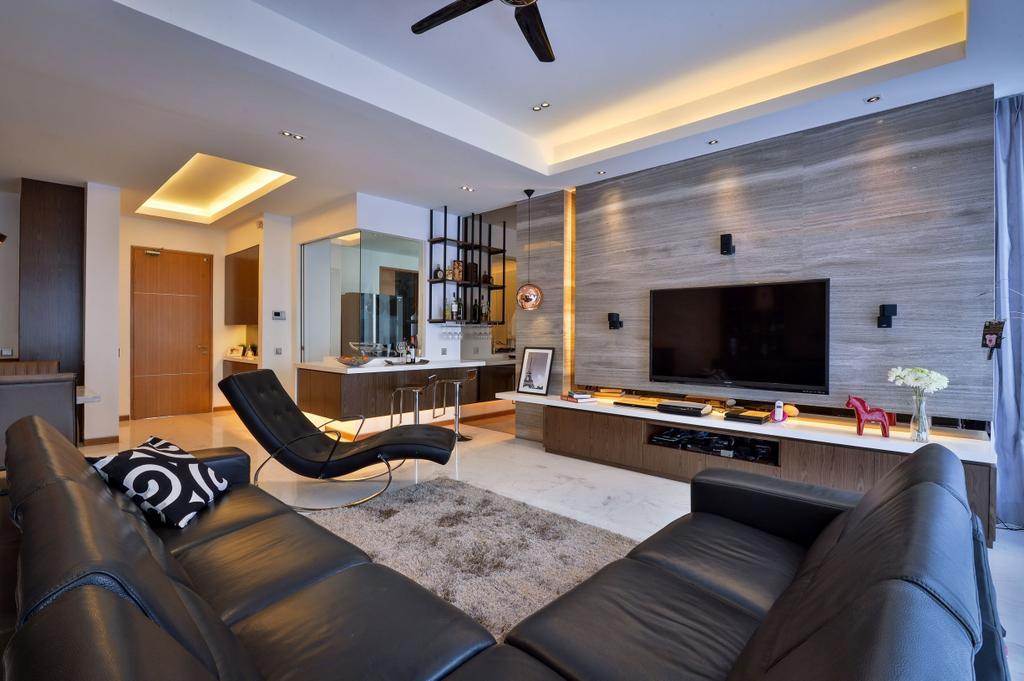 Modern, Apartment, Living Room, Twins, Damansara, Interior Designer, Surface R Sdn. Bhd., Contemporary