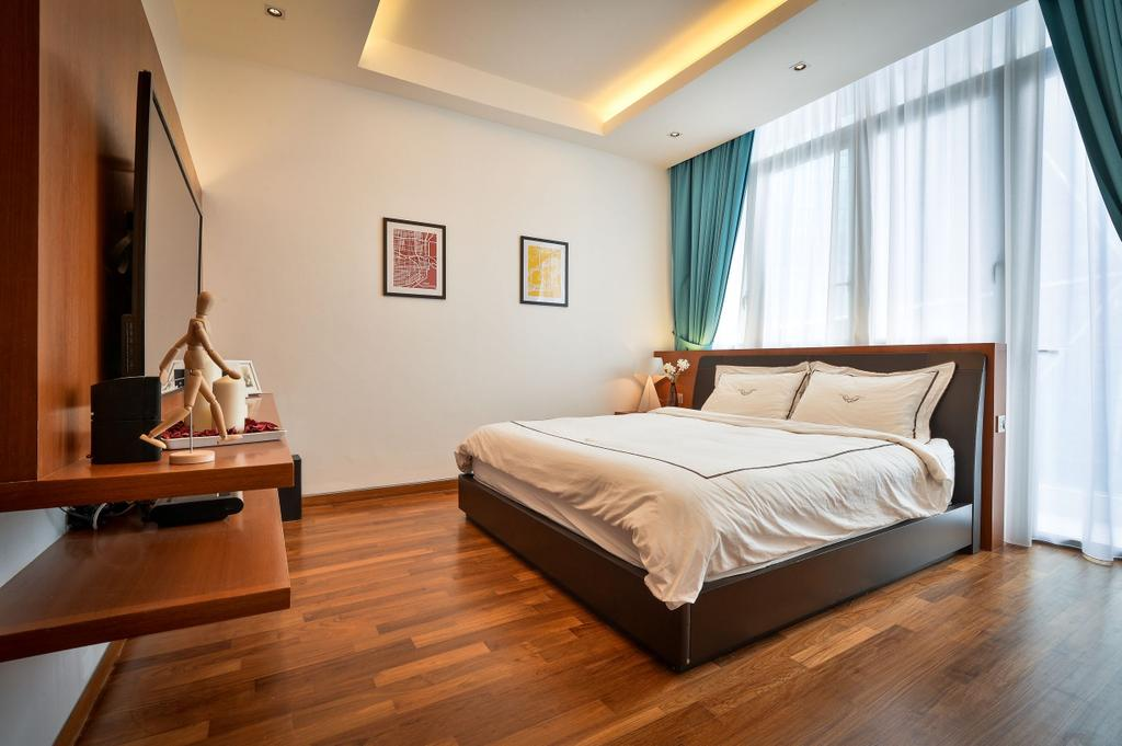 Modern, Apartment, Bedroom, Twins, Damansara, Interior Designer, Surface R Sdn. Bhd., Contemporary