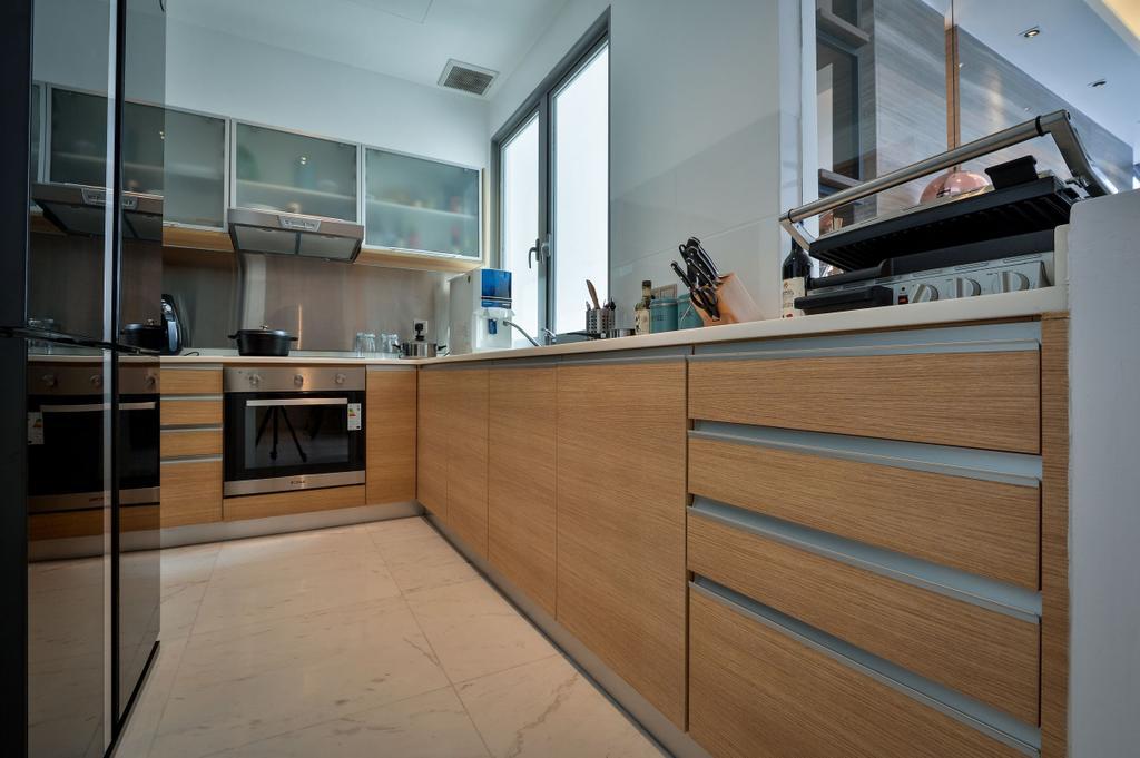 Modern, Apartment, Kitchen, Twins, Damansara, Interior Designer, Surface R Sdn. Bhd., Contemporary