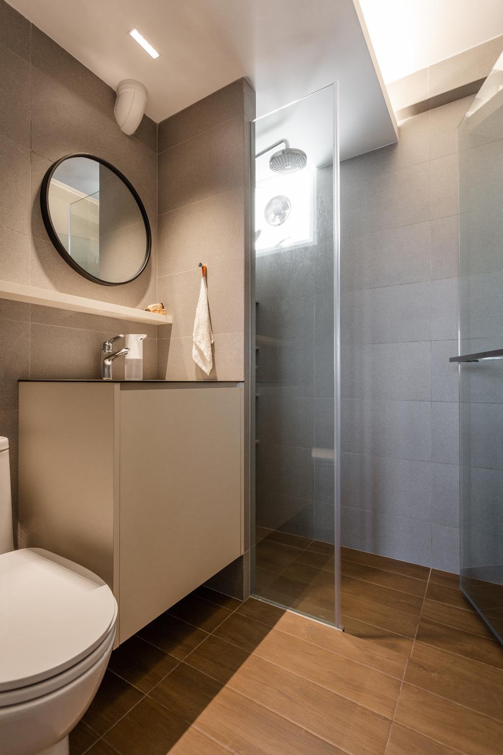 Contemporary, HDB, Bathroom, Holland Drive, Interior Designer, Habit, Scandinavian
