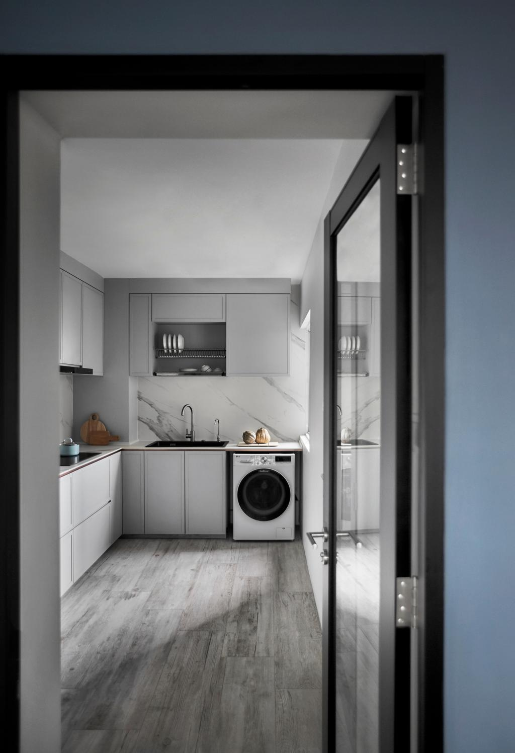 Contemporary, HDB, Kitchen, Cantonment Close, Interior Designer, Dan's Workshop, Scandinavian