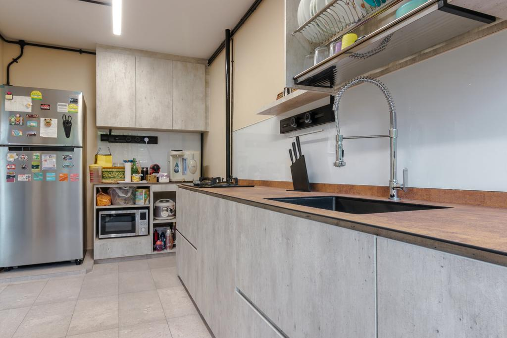 Modern, HDB, Kitchen, Bedok North Street 2, Interior Designer, 9 Creation