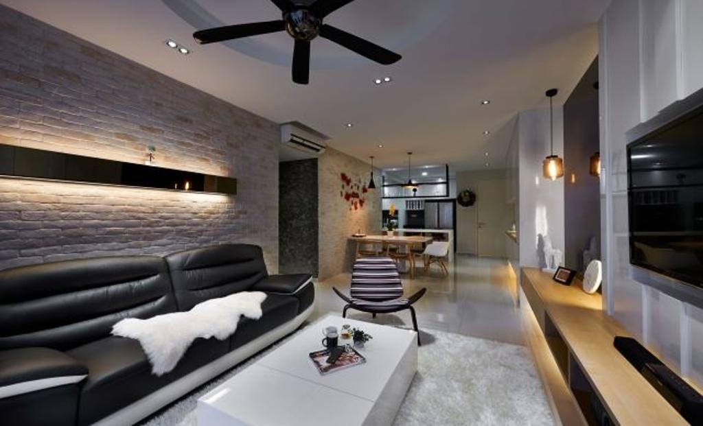 Modern, Condo, Living Room, Mid Fields, Taman Sungai Besi, Interior Designer, Surface R Sdn. Bhd., Contemporary