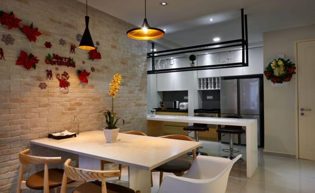 Modern, Condo, Dining Room, Mid Fields, Taman Sungai Besi, Interior Designer, Surface R Sdn. Bhd., Contemporary