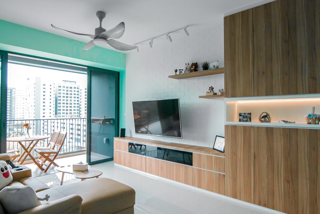 Contemporary, Condo, Living Room, Bellewaters, Interior Designer, 9 Creation