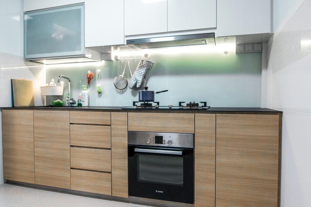 Contemporary, HDB, Kitchen, Canberra Street, Interior Designer, 9 Creation