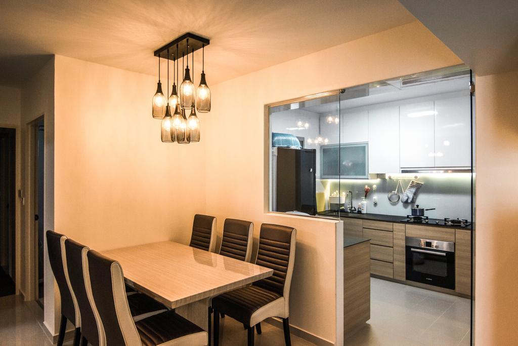Contemporary, HDB, Dining Room, Canberra Street, Interior Designer, 9 Creation