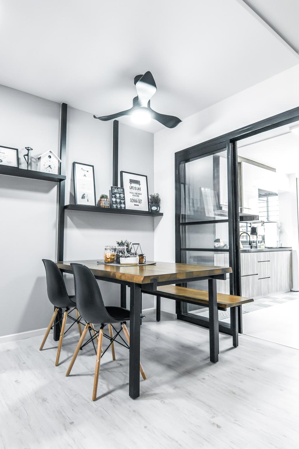 Contemporary, HDB, Dining Room, Tampines Street 83, Interior Designer, 9 Creation