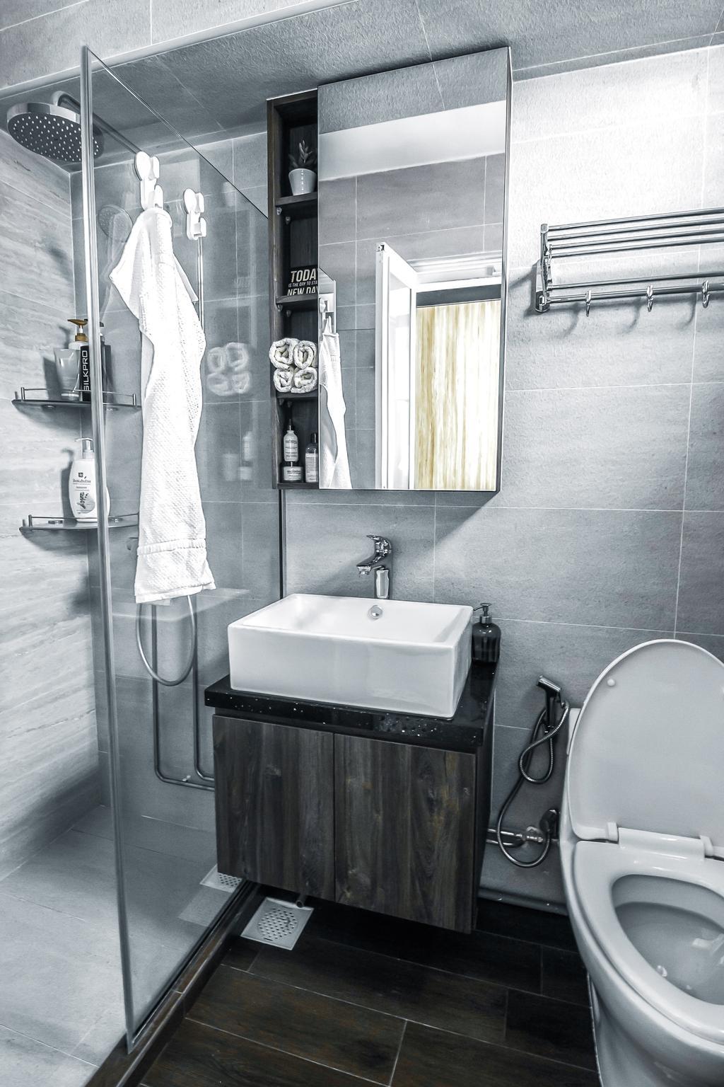 Contemporary, HDB, Bathroom, Tampines Street 83, Interior Designer, 9 Creation