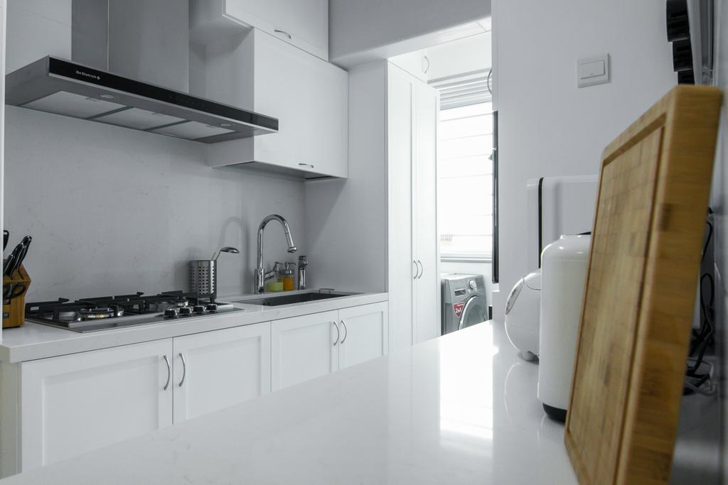 Contemporary, HDB, Kitchen, Bendemeer Road, Interior Designer, 9 Creation, Minimalistic