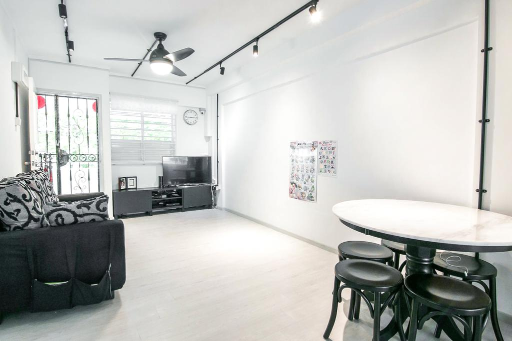 Contemporary, HDB, Living Room, Clementi Avenue 3, Interior Designer, 9 Creation
