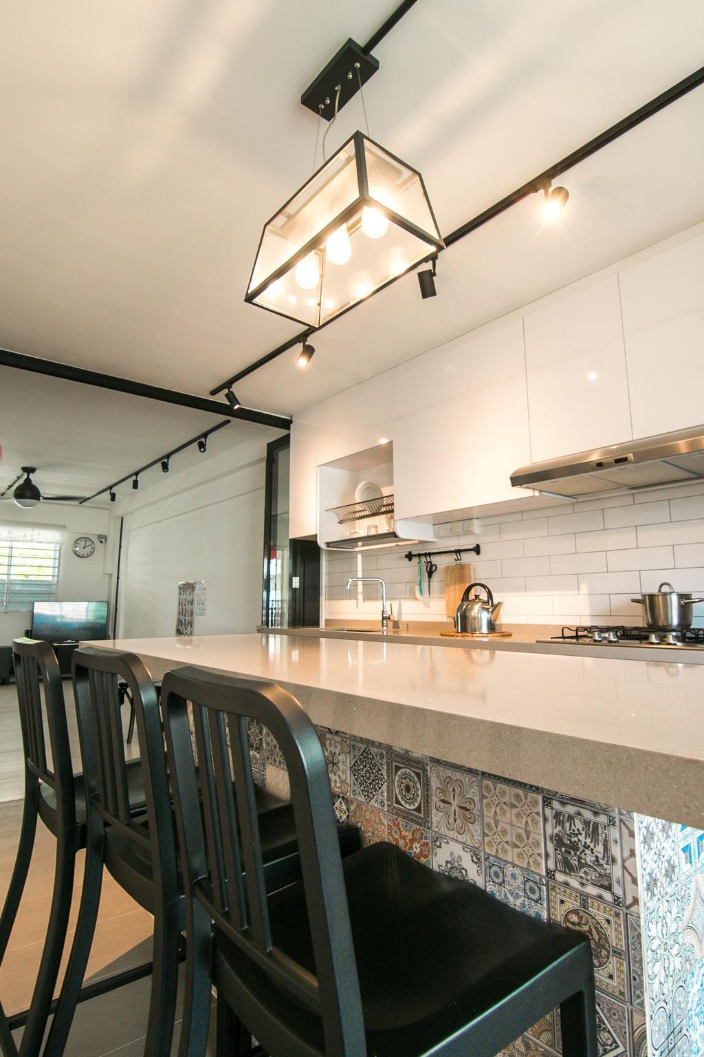 Contemporary, HDB, Kitchen, Clementi Avenue 3, Interior Designer, 9 Creation