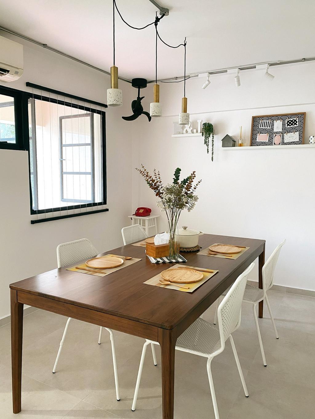 Retro, HDB, Dining Room, Hougang Avenue 5, Interior Designer, Ascend Design