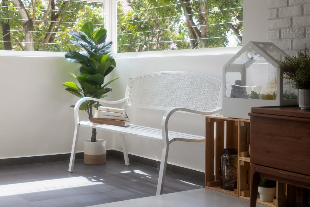 Retro, HDB, Balcony, Hougang Avenue 5, Interior Designer, Ascend Design