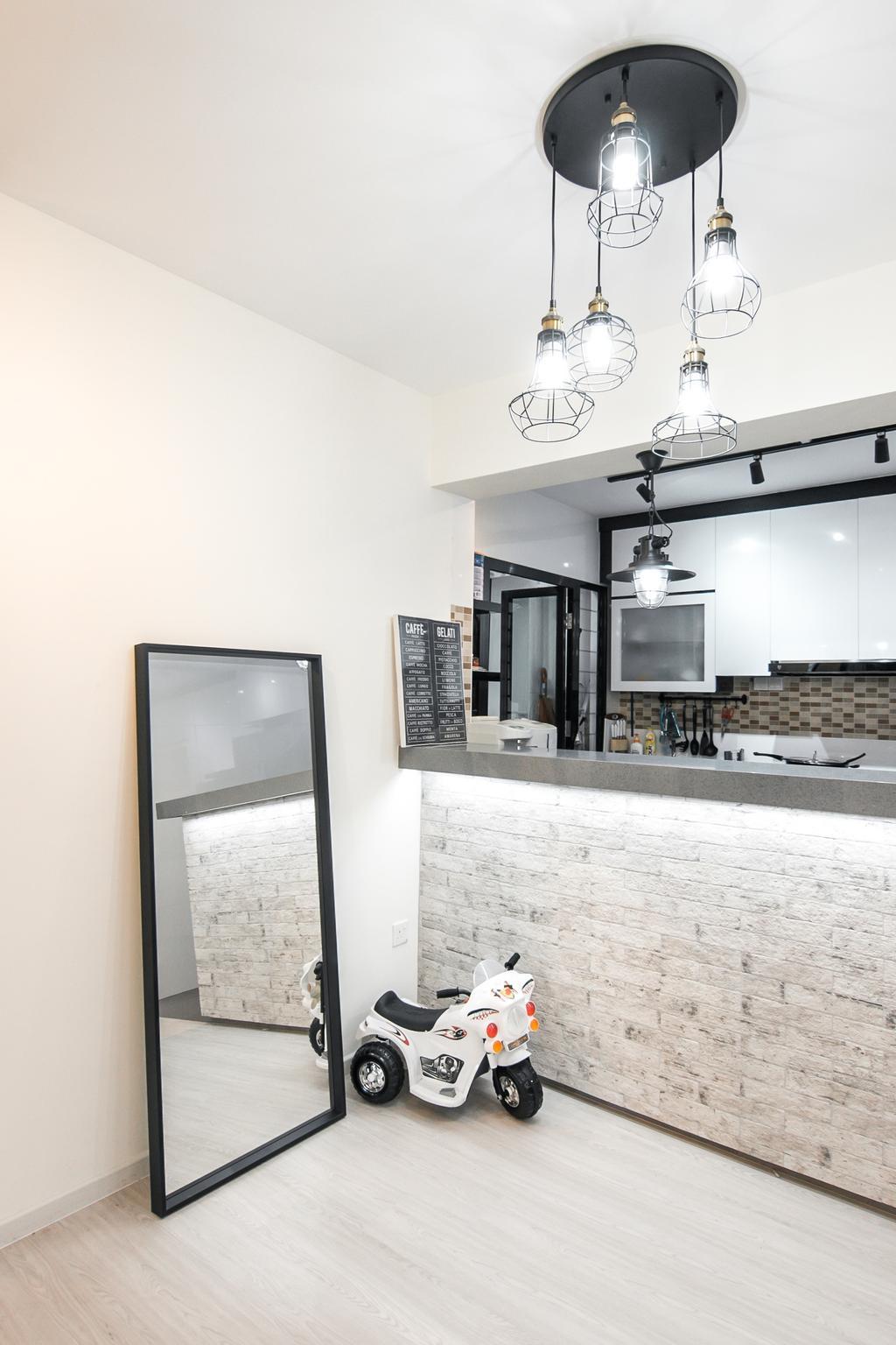 Contemporary, HDB, Kitchen, Fernvale Link, Interior Designer, 9 Creation