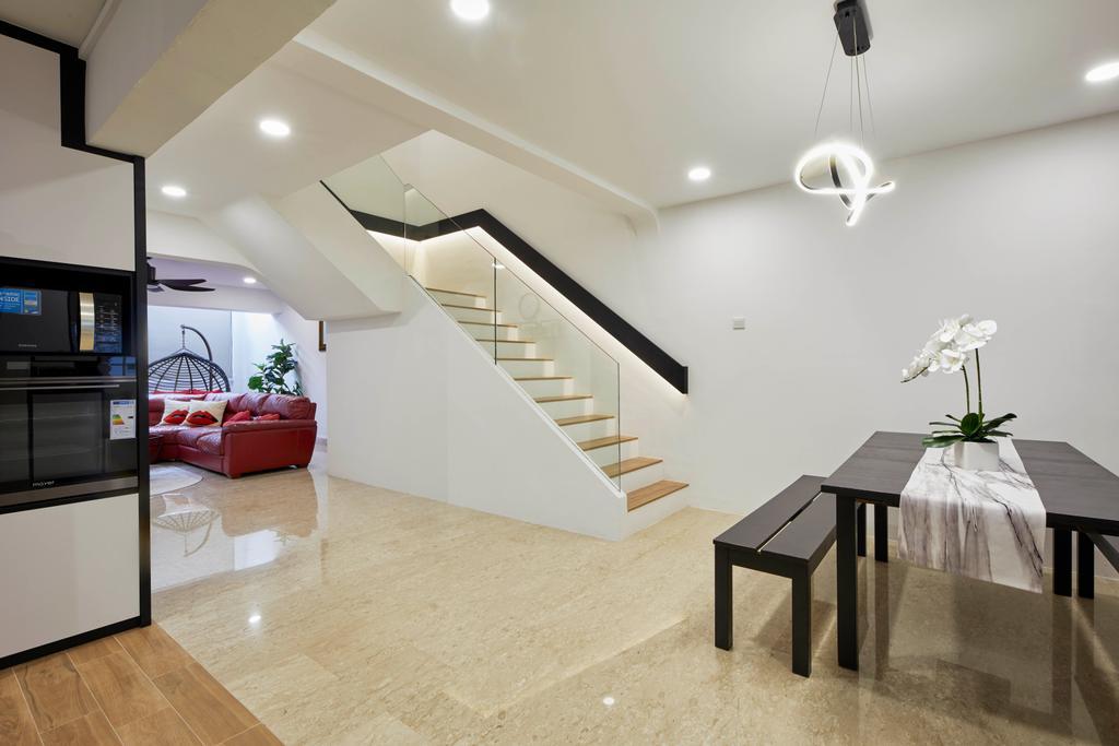 Contemporary, HDB, Dining Room, Woodlands Street 82, Interior Designer, SHE Interior