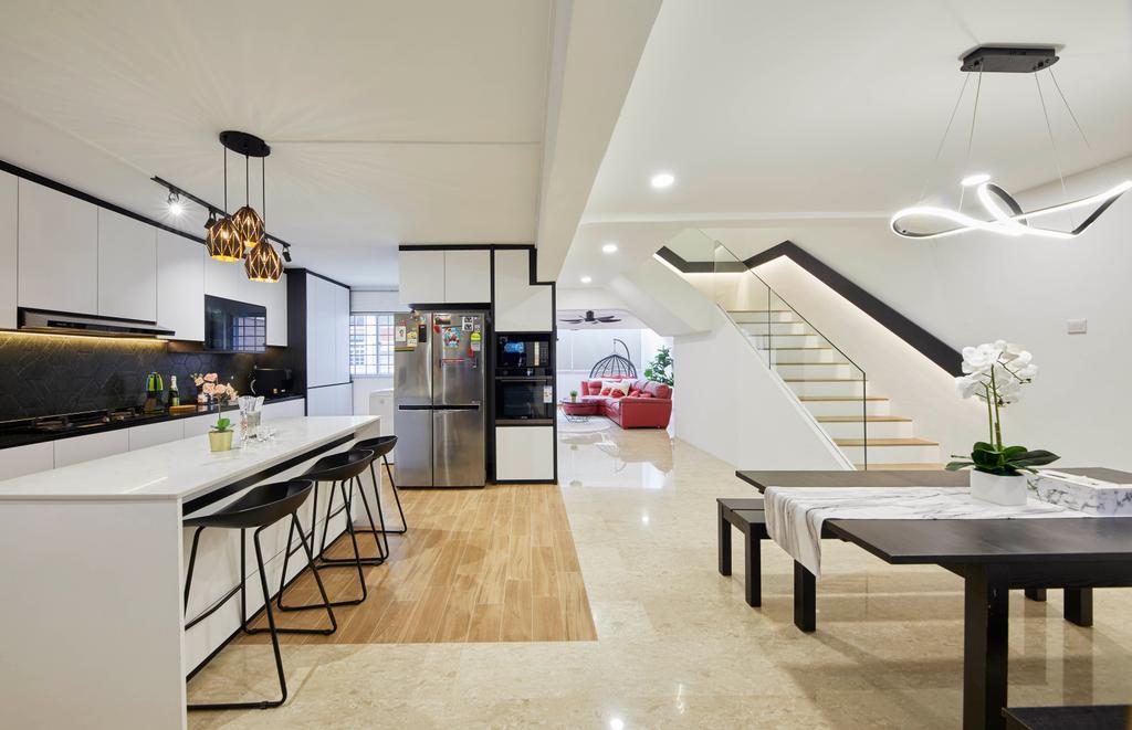 Contemporary, HDB, Kitchen, Woodlands Street 82, Interior Designer, SHE Interior