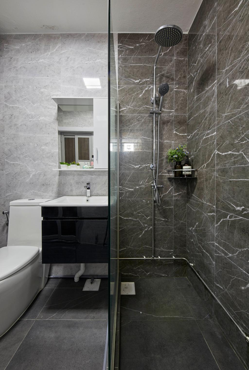 Contemporary, HDB, Bathroom, Woodlands Street 82, Interior Designer, SHE Interior