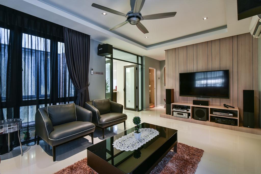 Modern, Landed, Living Room, Sierra Damansara @ Kota Damansara, Interior Designer, Surface R Sdn. Bhd., Contemporary