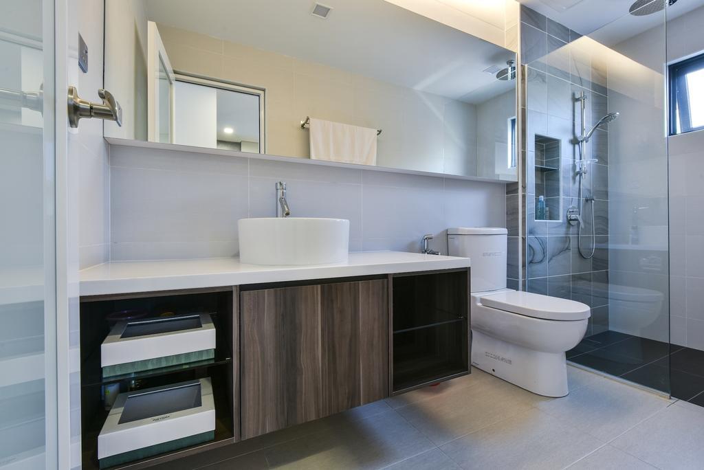 Modern, Landed, Bathroom, Sierra Damansara @ Kota Damansara, Interior Designer, Surface R Sdn. Bhd., Contemporary