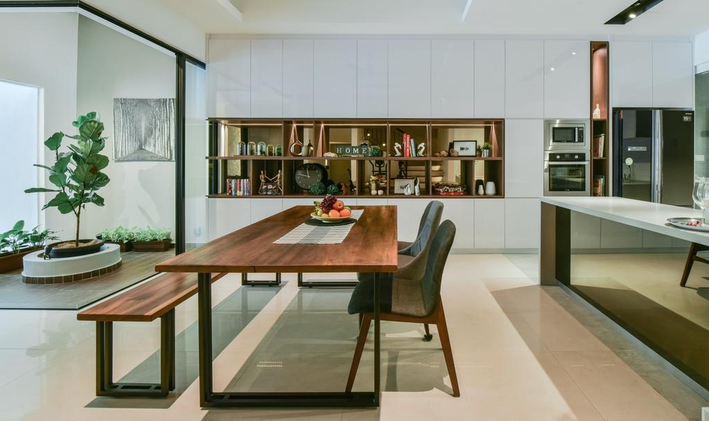 Modern, Landed, Dining Room, Valencia, Sungai Buloh, Interior Designer, Surface R Sdn. Bhd., Contemporary