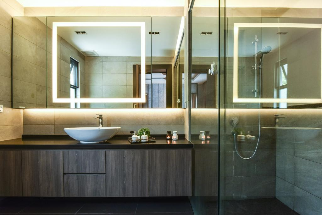 Modern, Landed, Bathroom, Valencia, Sungai Buloh, Interior Designer, Surface R Sdn. Bhd., Contemporary