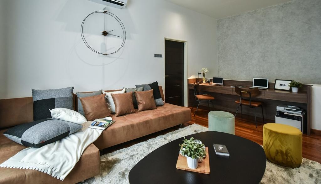 Modern, Landed, Living Room, Bandar Bestari, Klang, Interior Designer, Surface R Sdn. Bhd., Contemporary