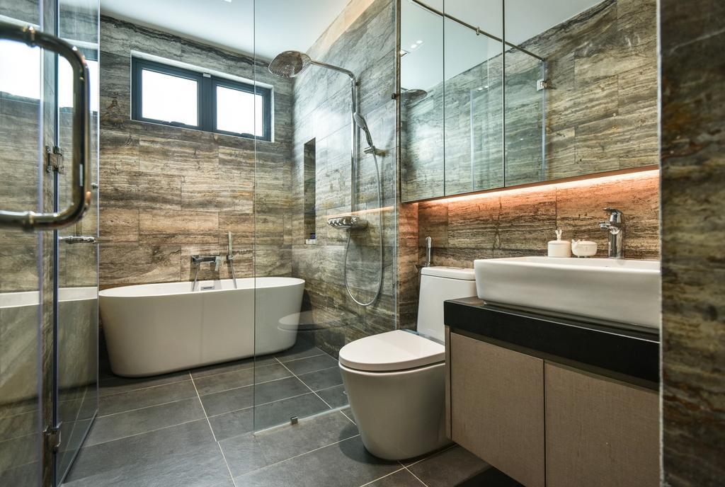 Modern, Landed, Bathroom, Bandar Bestari, Klang, Interior Designer, Surface R Sdn. Bhd., Contemporary