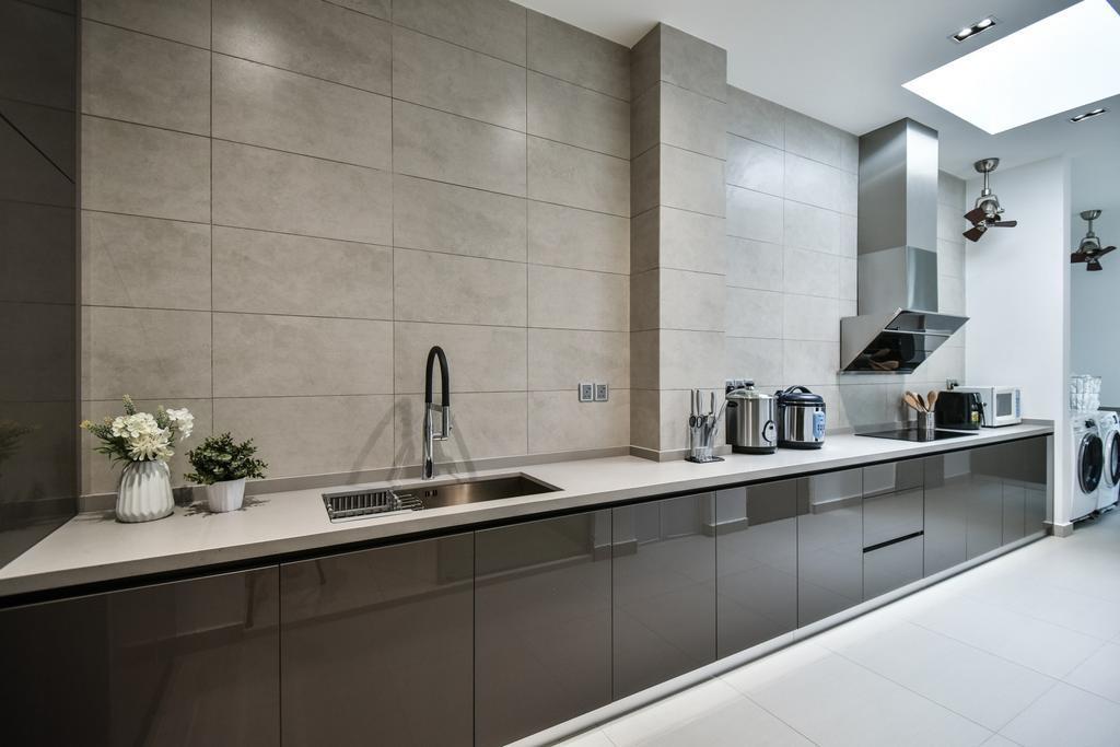 Modern, Landed, Kitchen, Bandar Bestari, Klang, Interior Designer, Surface R Sdn. Bhd., Contemporary