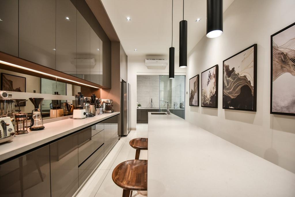 Modern, Landed, Dining Room, Bandar Bestari, Klang, Interior Designer, Surface R Sdn. Bhd., Contemporary