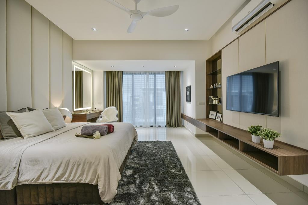 Modern, Landed, Bedroom, Setia Alam, Interior Designer, Surface R Sdn. Bhd., Contemporary