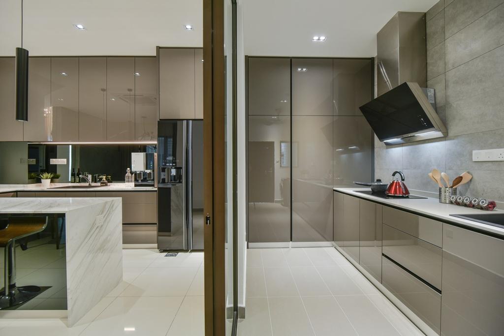 Modern, Landed, Kitchen, Setia Alam, Interior Designer, Surface R Sdn. Bhd., Contemporary