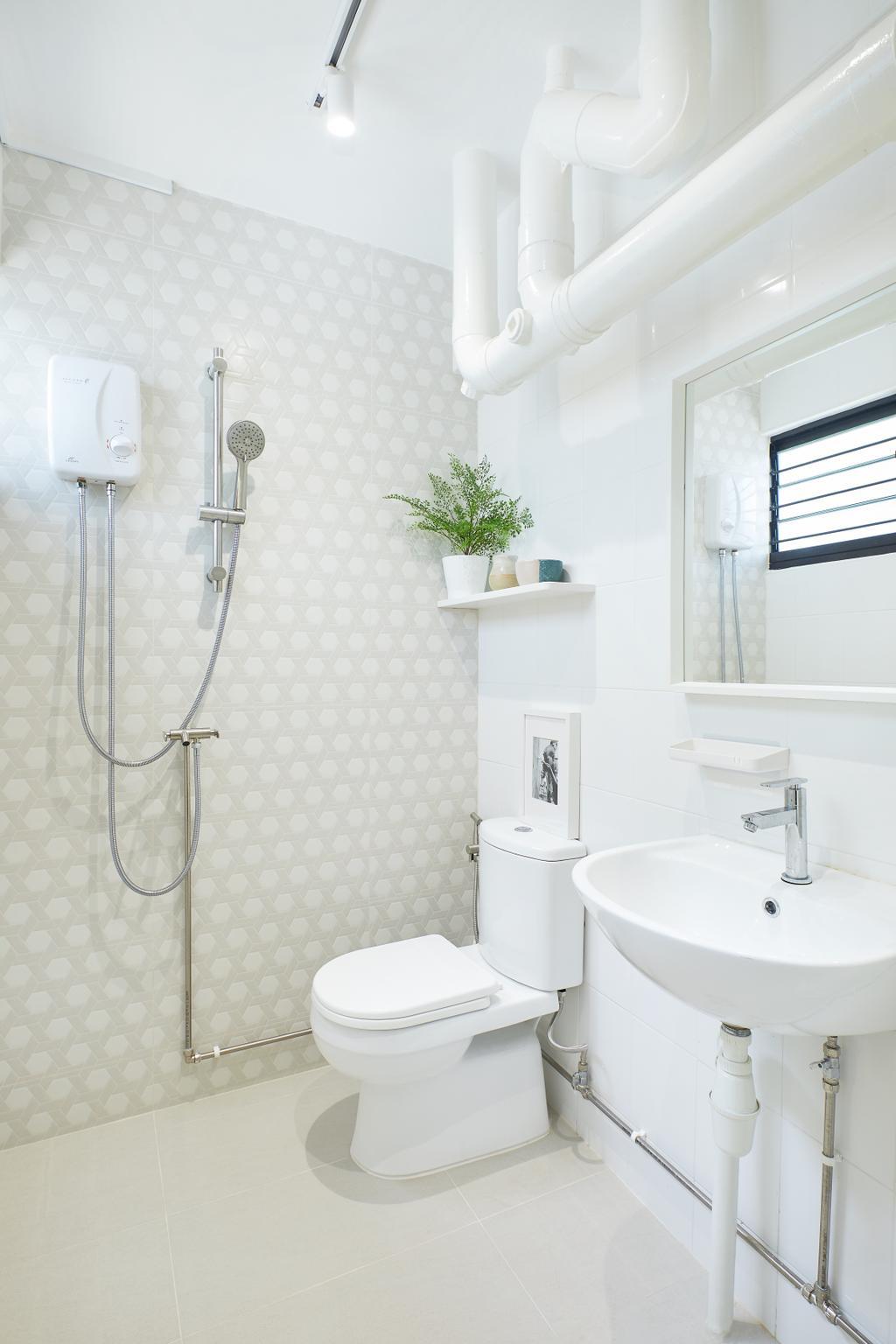 Minimalistic, HDB, Bathroom, Bedok, Interior Designer, Jubilee Interior