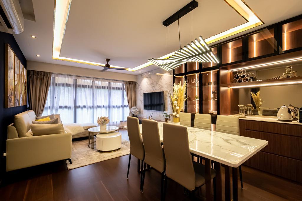 Modern, HDB, Dining Room, McNair Road, Interior Designer, Space Atelier