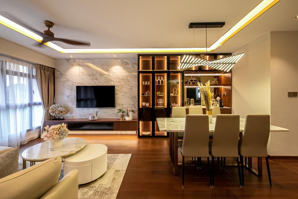 Modern, HDB, Living Room, McNair Road, Interior Designer, Space Atelier