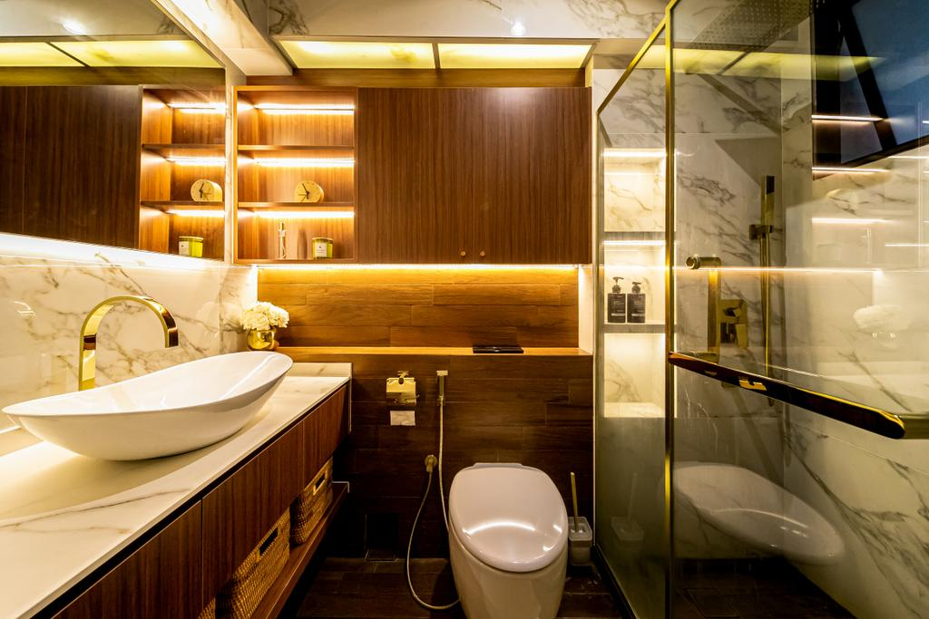 Modern, HDB, Bathroom, McNair Road, Interior Designer, Space Atelier