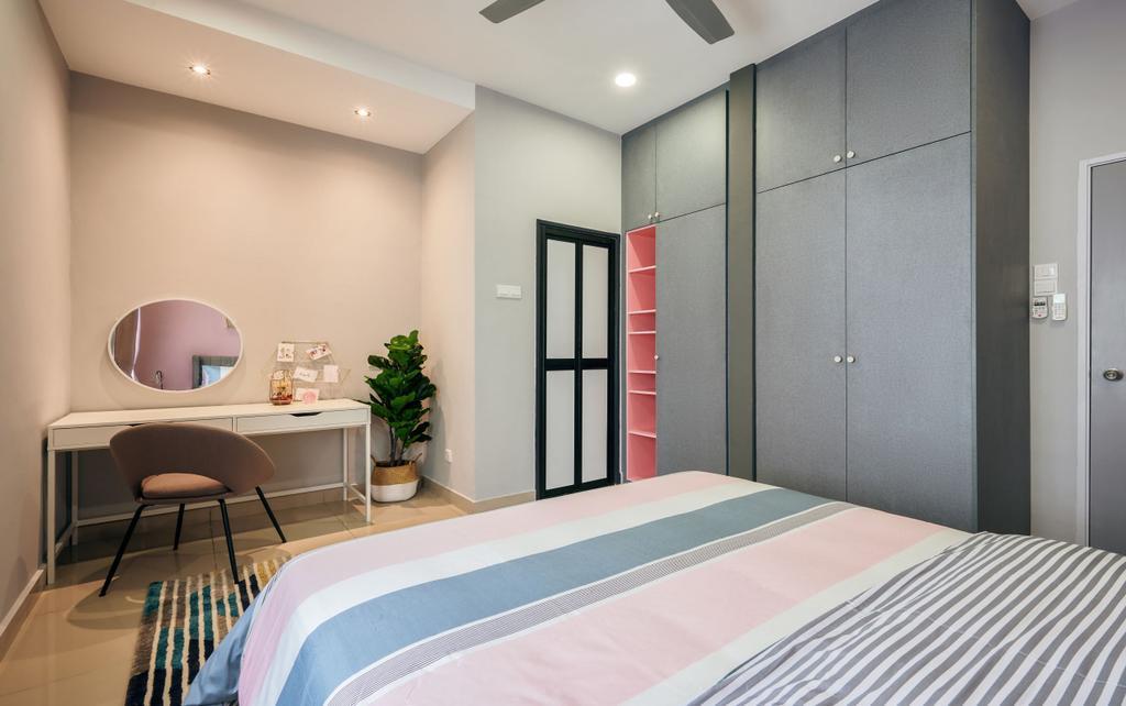 Modern, Landed, Bedroom, Taman Desiran Bayu, Puchong, Interior Designer, Klaasmen Sdn. Bhd.