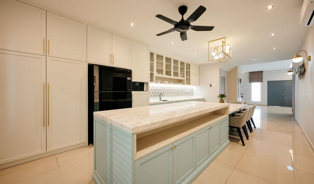 Modern, Landed, Dining Room, Taman Desiran Bayu, Puchong, Interior Designer, Klaasmen Sdn. Bhd.