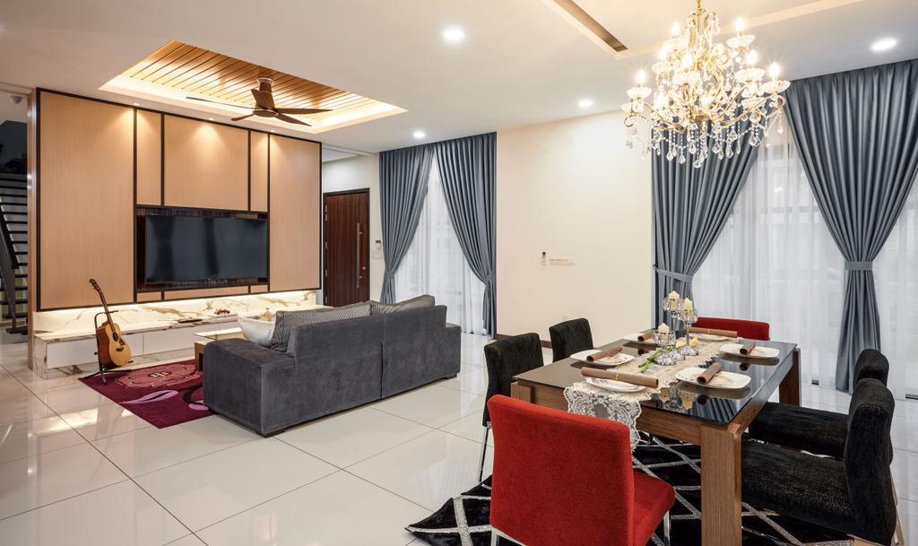 Modern, Landed, Living Room, Elmina, Shah Alam, Interior Designer, Klaasmen Sdn. Bhd., Contemporary